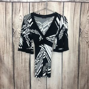 BCBGMAXARIA Black Kimono Sleeve Top XS